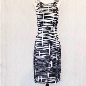 David Meister Sleeveless Black & White Dress